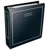 Company Register binders and tab divider sets